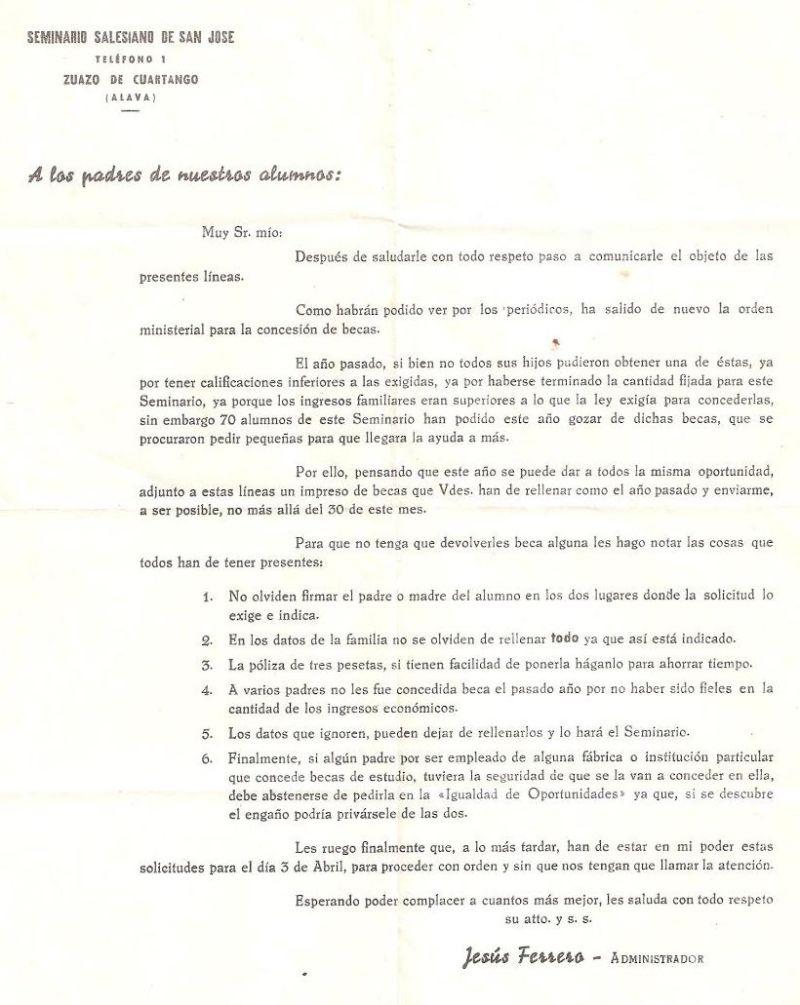 1965 Zuazo Concesión de becas